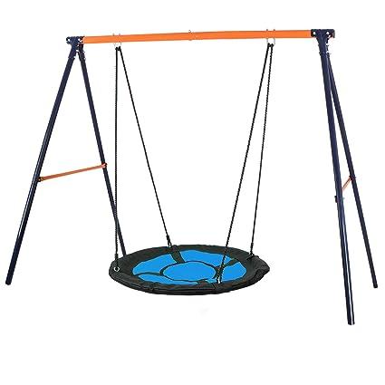 Super Deal 40 Kids Web Tree Swing Sausuper Deal Swing Set Combo For 1 2 Kids 40 Web Tree Swing Heavy Duty A Frame Metal Swing Set Resilient