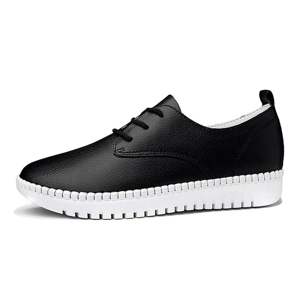 JRenok - Zapatos Planos con Cordones Mujer 39 EU negro