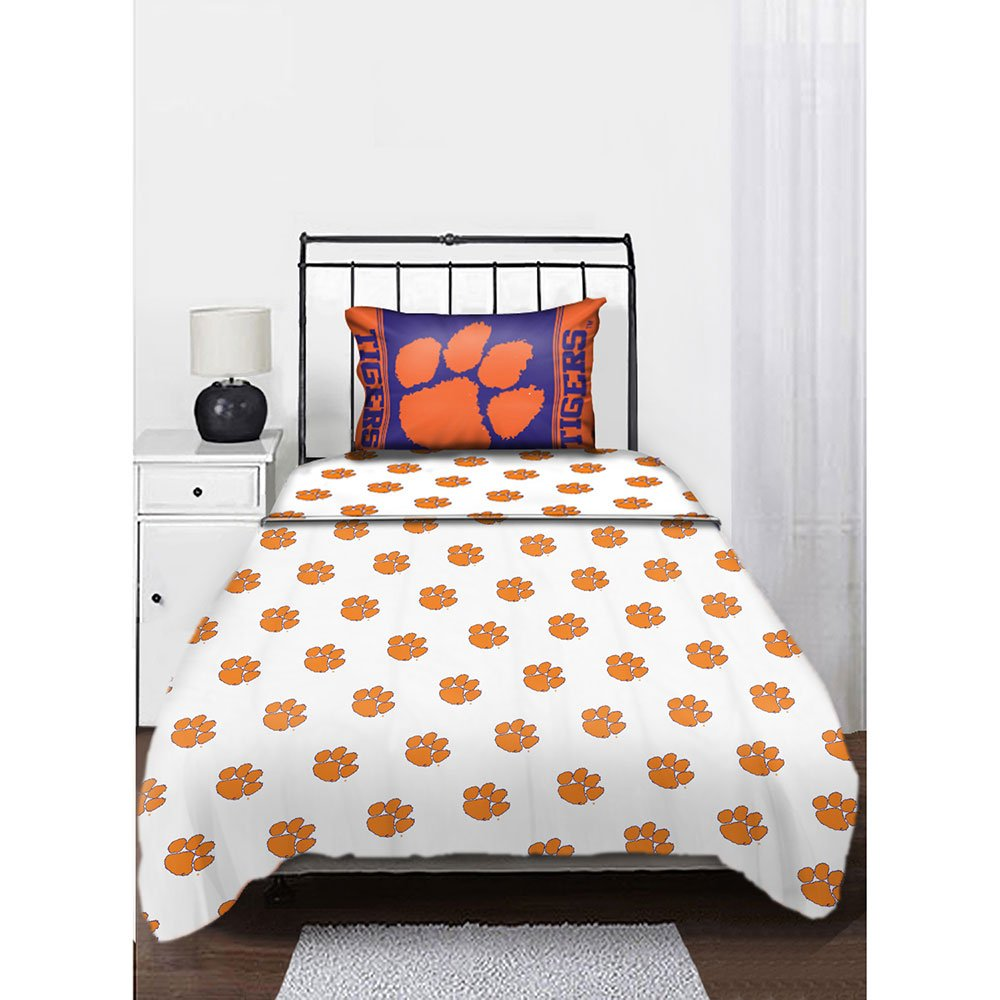 The Northwest Company Northwest NOR-1COL820001033WMT Clemson Tigers NCAA Anthem Series Twin Sheet Set by The Northwest Company