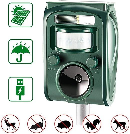 zonpor Ultrasónico Repelente de Gatos para Jardín, para Uso al Aire Libre, ristente al Agua, Animales, Ratones, Perroas, Gatos, Pájaros: Amazon.es: Jardín