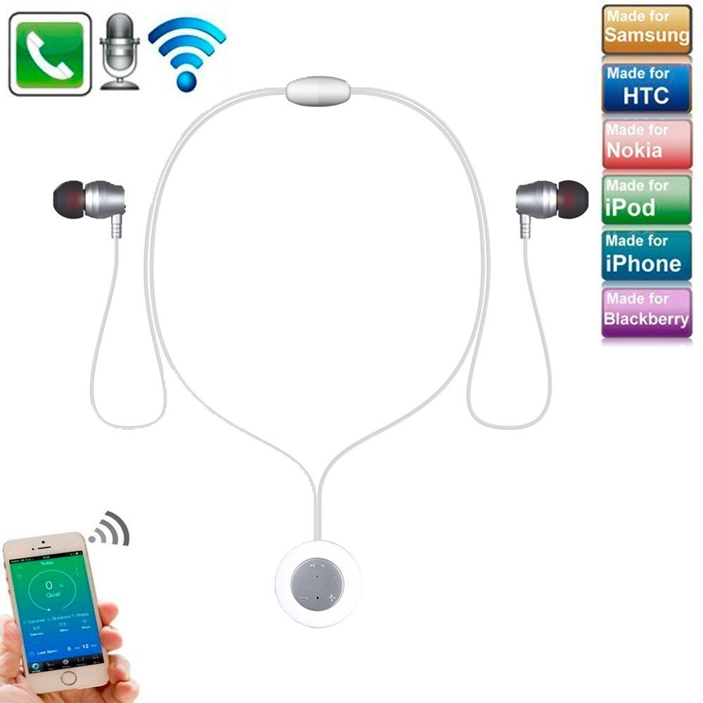Wireless Anti Sweat Sport Headphones Iphone X Bluetooth Earphones Comfortable In Ear Earbuds Stereo Headset With Mic For Iphone 8 8 Plus Iphone 7 7 Plus Galaxy S9 S9 Smartphones Ipad Pc White Delicate Datafunk De