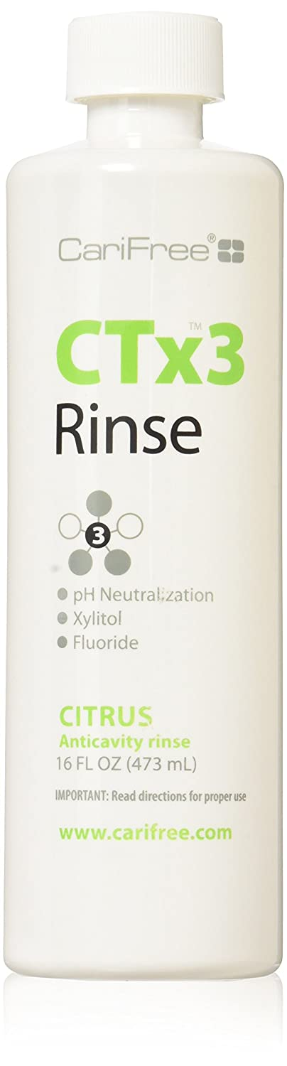 CariFree CTx3 Fluoride Rinse, Dentist Recommended, Anti-Cavity (Citrus)