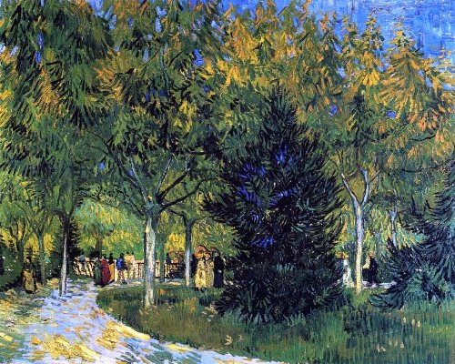 "Vincent Van Gogh Avenue in the Park - 20.05"" x 25.05"" Peel & Stick Removable Wall Decal"
