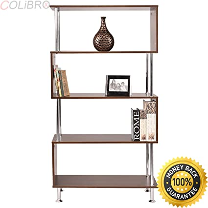 COLIBROX 32quotx12quotx58quot 4 Shelf Bookcase Wooden Bookshelf Storage Display
