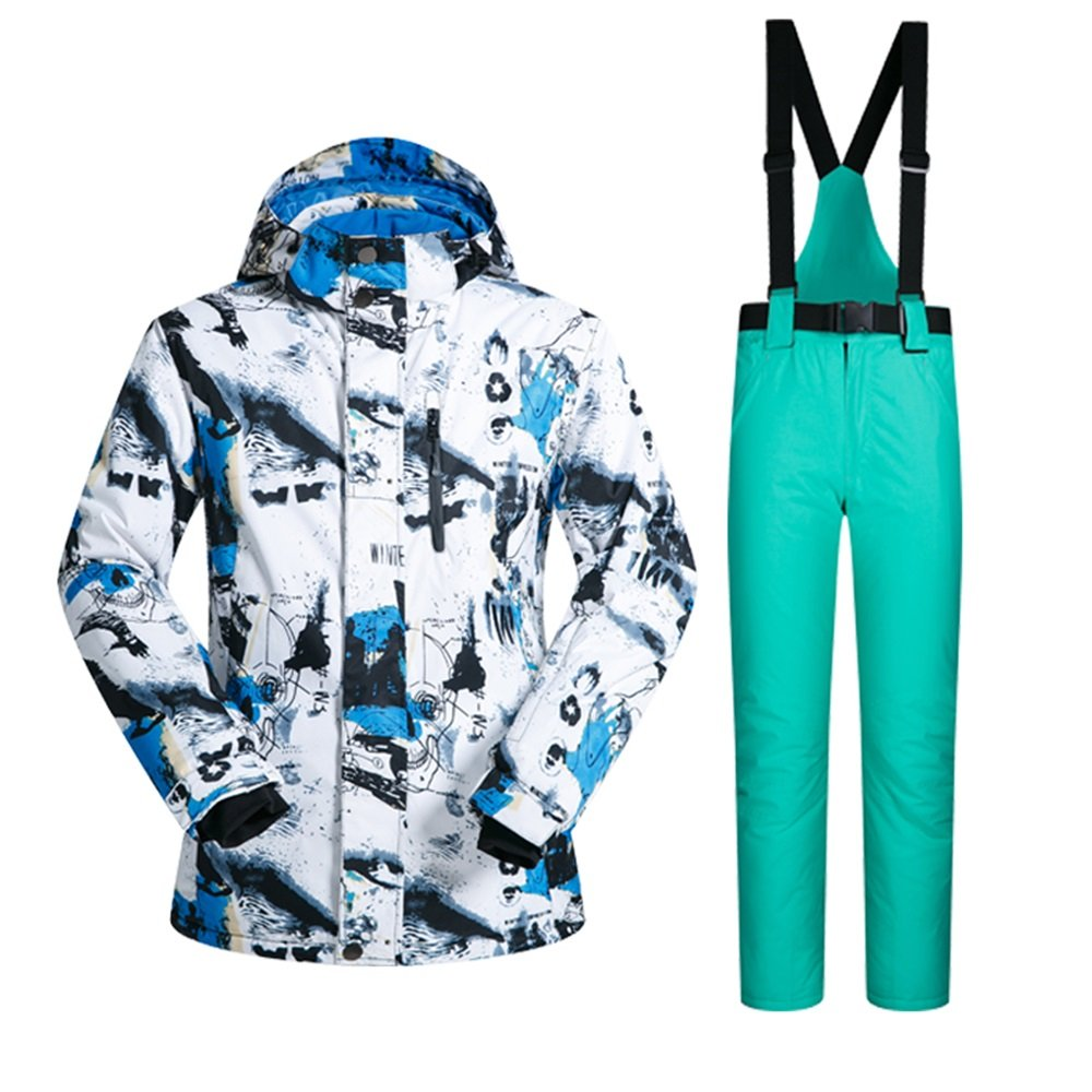 YFF Outdoor men jacket and pant snowboard suits winter warm waterproof breathable LEIT