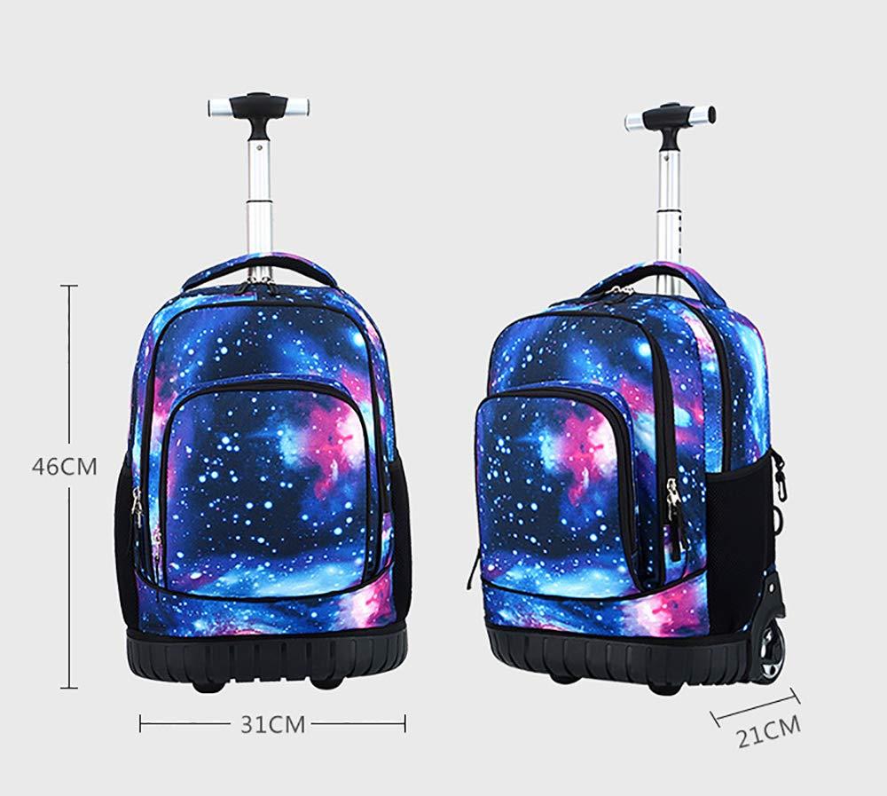ccd59c47f7d6 Amazon.com: HIMFL Wheeled Rolling Backpack 18 inch Unisex Trolley ...