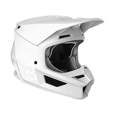 2020 Fox Racing V1 Matte Helmet-White-XL: Automotive