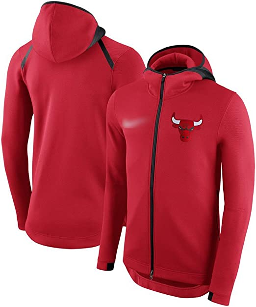Chicago Bulls Hoodie Full Zip Turtleneck Hoody NBA Basketball Team Jacket Black