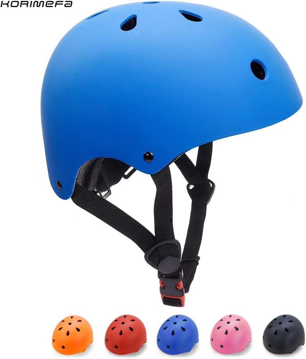Casco para multibles Deportes ni/ño ni/ña de Edad de 3-13 a/ños KORIMEFA Casco Bicicleta para Ni/ños Casco Infantil Ajustable para Monopat/ín Patinaje BMX Esquiar