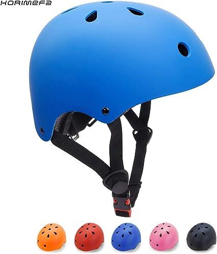 KORIMEFA Casco Bicicleta para Niños Casco Infantil Ajustable para Monopatín Patinaje BMX Esquiar, Casco para multibles Deportes niño niña de Edad de 3-13 años: Amazon.es: Deportes y aire libre