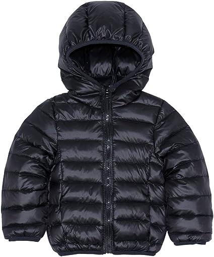 Daunenhose M/ädchen Jungen Schneeanzug Kinderskianzug Vimukun Kinder Daunenjacke mit Kapuze