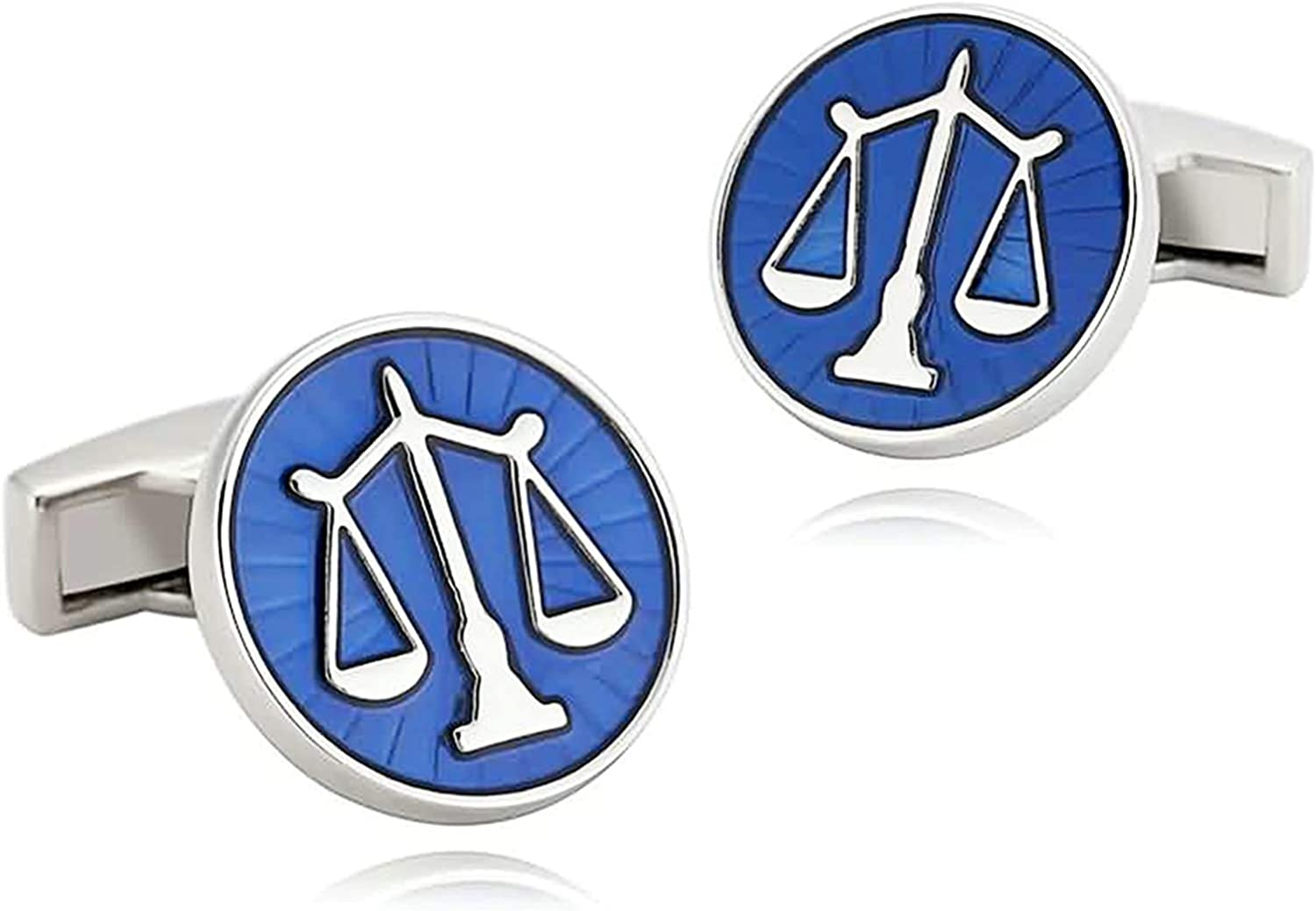 Cuff-Daddy Scales of Justice Lawyer Judge Attorney Law Cufflinks in Blue with Presentation Box