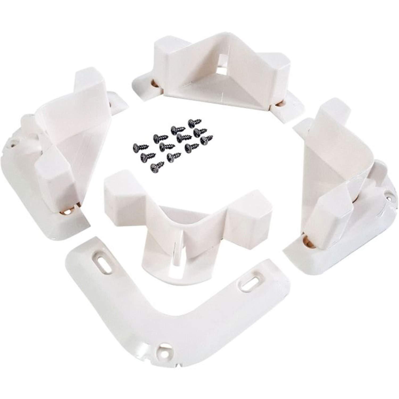 VersaChock Cooler/Cargo Tie Down-Black/White Removable Chocks Versa Chock 744368381608