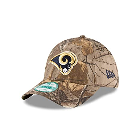 fd8a2f4513ccc5 Image Unavailable. Image not available for. Color: New Era Los Angeles Rams  The League Realtree Camo 9FORTY Adjustable Hat/Cap