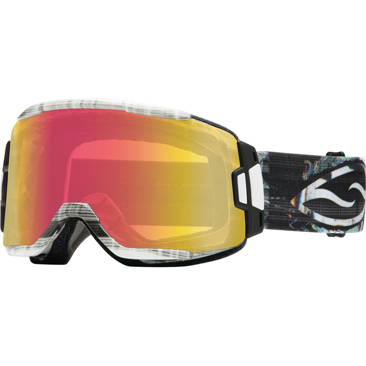 Smith Optics Squad Cylindrical Series Winter Sport Snowmobile Goggles Eyewear - Vertical Hold/Red Sensor / Medium