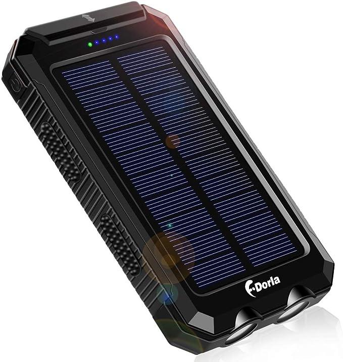 F.Dorla 10000mAh Portable Solar Power Bank