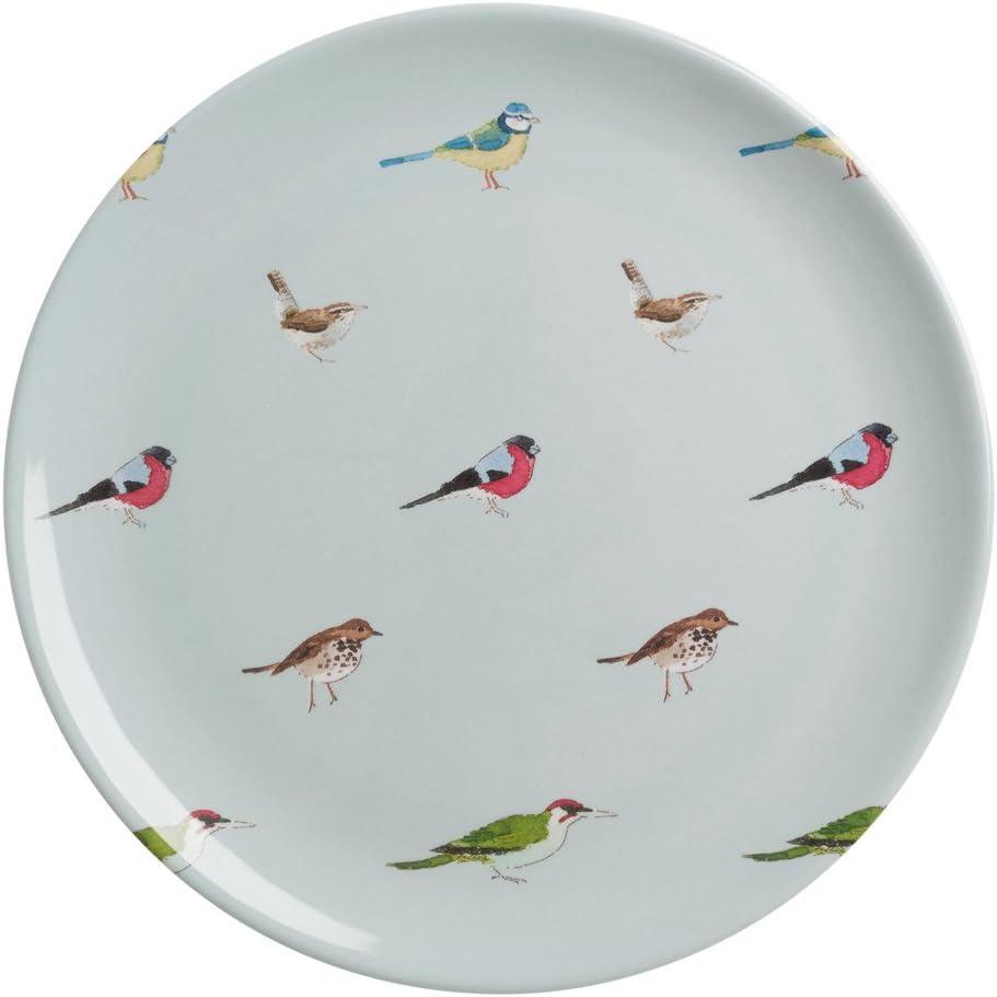 Sophie Willard Allport Jardin Oiseaux Assiette en m/élamine