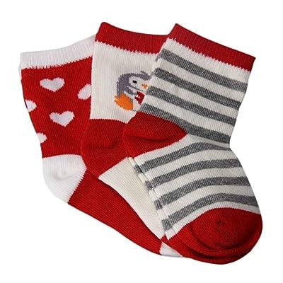0-3 ans Bebe Fille Chausson Chausettes Cotton Cute Nouveau-Né anti-dérapant chaussons chaussures 3paires