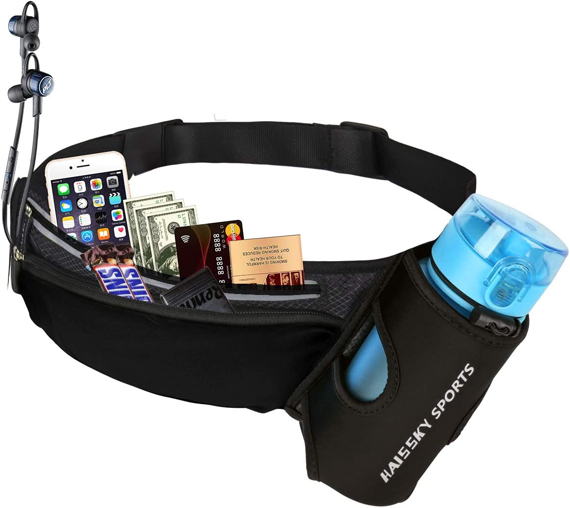 Guzack Riñonera Deportivo Bolso Cintura Cinturón Running Belt Bolsa de Correr Impermeable para iPhone X XR XS Plus Teléfonos hasta 6.5'' para Deportes Fitness Senderismo Ciclismo Jogging Caminar