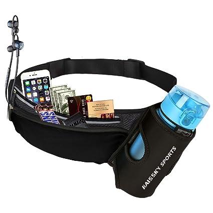 Guzack Riñonera Deportivo Bolso Cintura Cinturón Running Belt Bolsa de Correr Impermeable para iPhone X XR XS Plus Teléfonos hasta 6.5 para Deportes ...