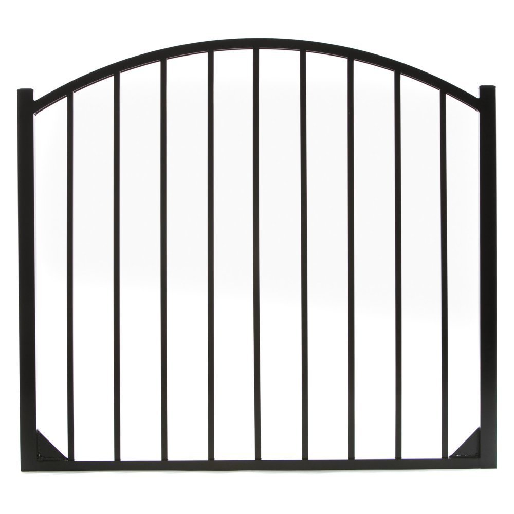 Specrail DIY Fence GR9482A048ARCHBL Bethany Aluminum Arched 2-Rail Fence Walk Gate with Hardware, 54 by 48-Inch