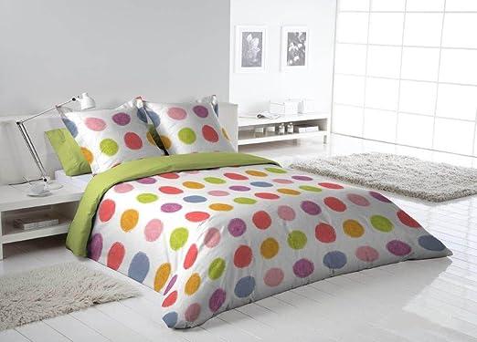 Más Relax Funda nórdica Lilou cama 90 1 funda almohada verde ...
