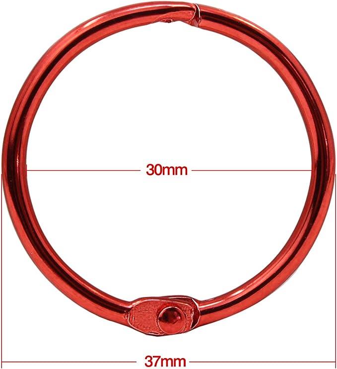 20 Pezzi KEESIN Anelli a libro anelli in metallo da 30 mm con anelli colorati a forma di anelli portachiavi per album//album//artigianato