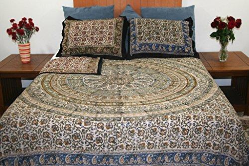 Reversible Duvet Cover-Kalamkari Block Print-Full/Queen Handmade 100% Cotton