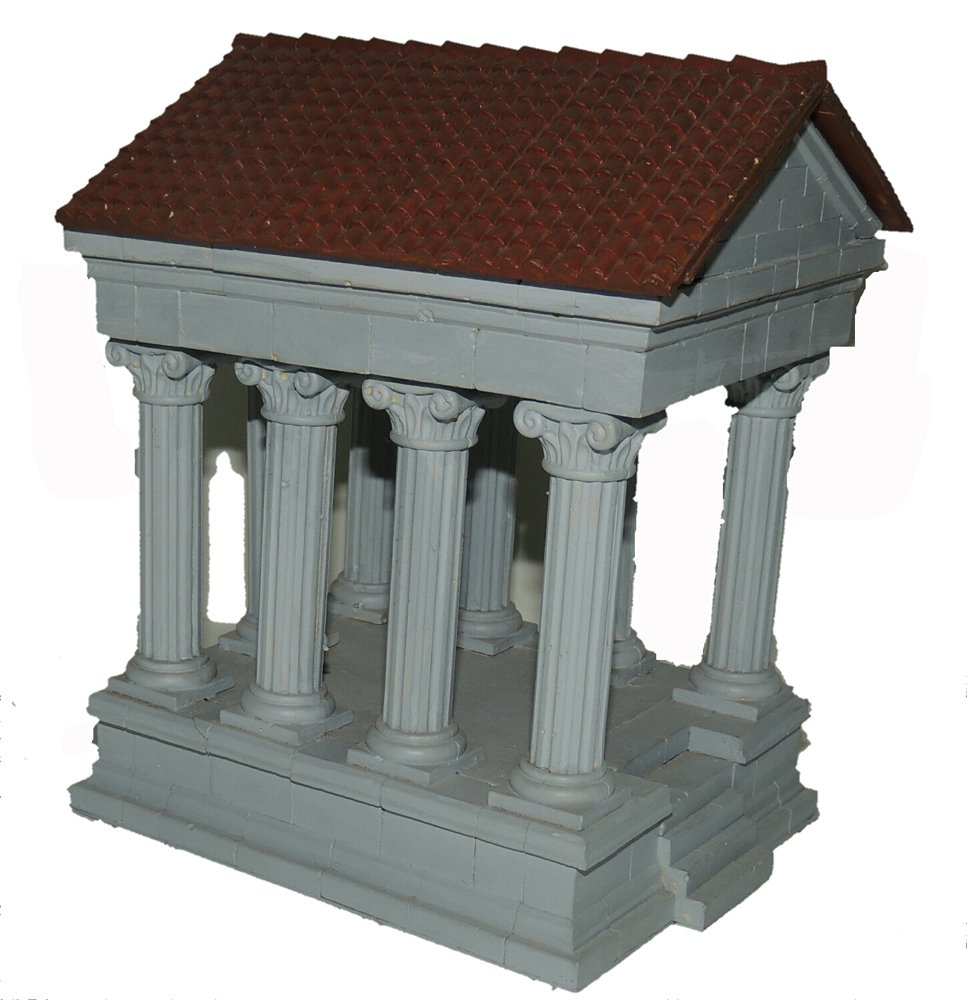 Hirst Arts Roman Temple with Roof Scale Model Making Kit by MaxxGallery
