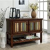 Furniture of America Mellie Hallway Cabinet in Brown Cherry