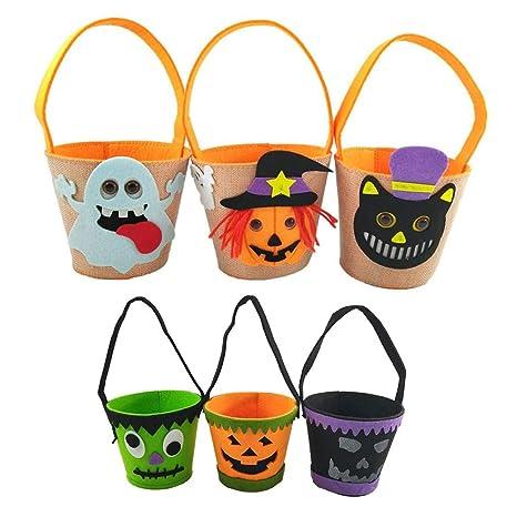 Amosfun - Bolsas para Caramelos de Halloween (6 Unidades ...