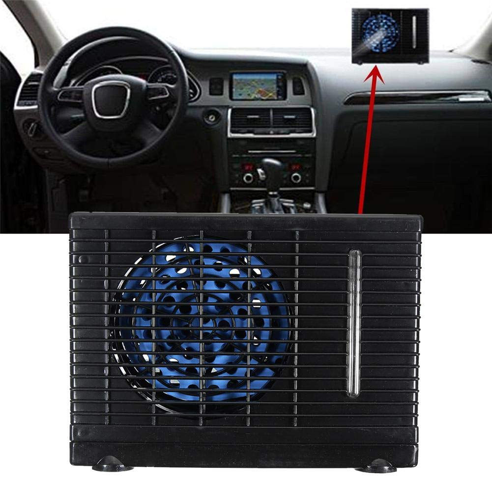 Globalqi condizionatore di auto ventilatore di climatizzazione di refrigerazione d acqua pratica multifunzione portatile installazione 12/V portatile per il conduttore di tenere al fresco
