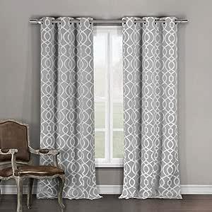 Duck River Textile Heavy Blackout Darkening Window Curtain 2 Panels, Premium Quality, Grey, 36 x 96