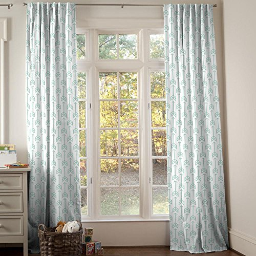 Carousel Designs Mint Arrow Drape Panel 96-Inch Length Standard Lining 42-Inch Width by Carousel Designs