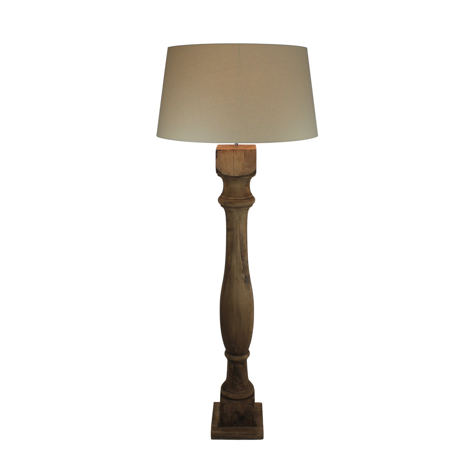 Urban Designs Rustic 64-Inch Tall Handcrafted Solid Wood Floor Lamp