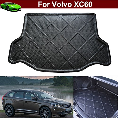 Car Boot Pad Carpet Cargo Mat Cargo Liner Trunk Liner Tray Floor Mat For Volvo XC60 2008 2009 2010 2011 2012 2013 2014 2015 2016 2017 (Volvo Trunk Mat)