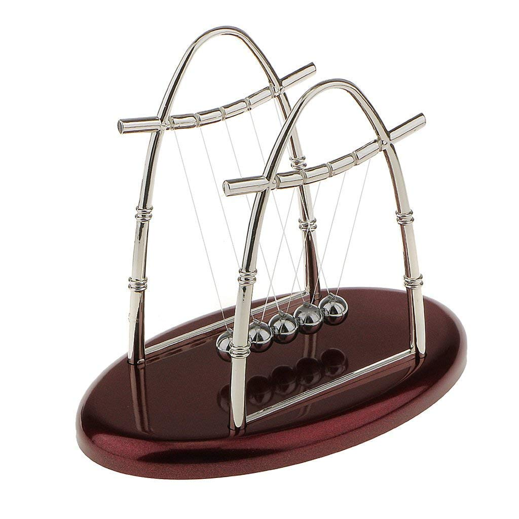 Yevison Newton swinging ball small arch Newton Cradle Balance Balls Art in Motion Toy A Durable and Useful by Yevison