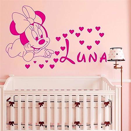 autocollant mural sticker mural Mickey Mouse Wall Sticker Decal D/écoration de La Maison Cr/éative Diy Mignon Mickey Mouse Minnie B/éb/é Personnalis/é Enfants Nom B/éb/é pour Enfants Chambres