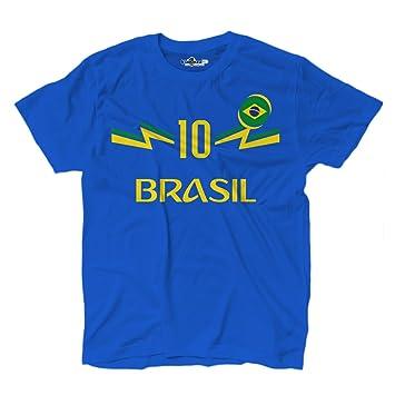 KiarenzaFD Camiseta Camiseta Fútbol 2 Junior Selección Neymar Brasil 10 Shirts, KTS01894-S-