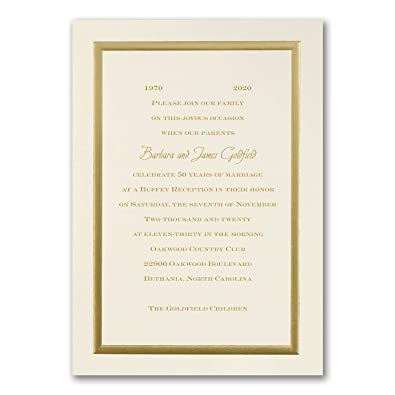 Amazon Com 775pk Golden Memories Invitation Shop All
