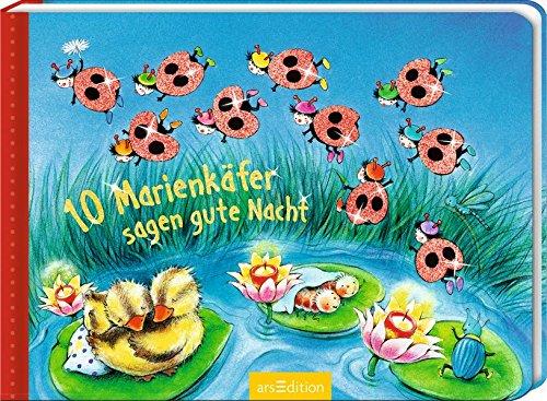 10 Marienkäfer sagen Gute Nacht (10er Stanze Minis)