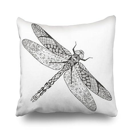 Amazon.com: Fundas de almohada, diseño de libélula con ...
