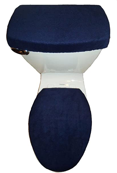 Magnificent Amazon Com Solid Navy Blue Fleece Toilet Seat Lid And Tank Machost Co Dining Chair Design Ideas Machostcouk