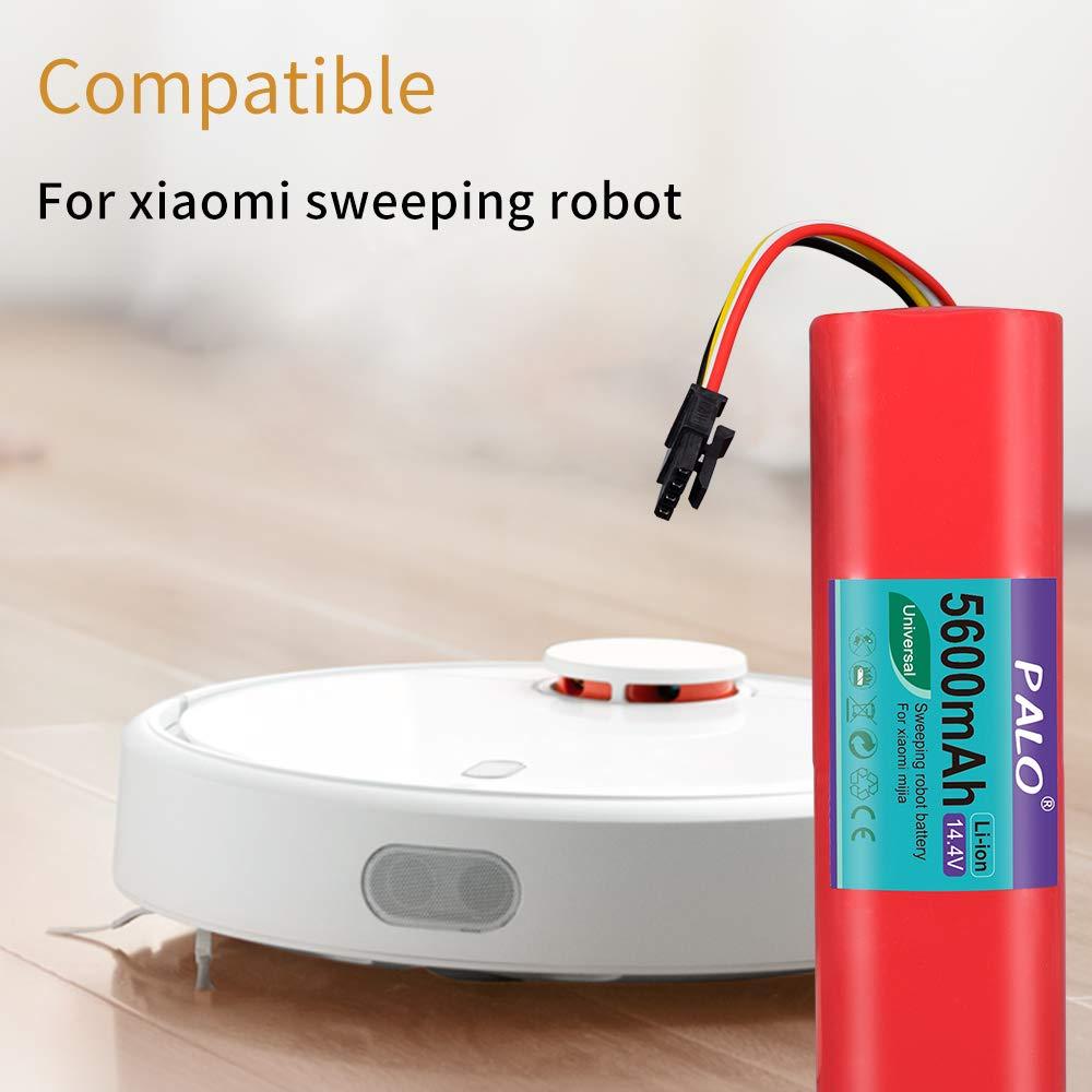 Palo 14.4 V 5600 mAh iones de lavado eléctrica para Xiaomi Mi Robot Xiaomi mijia Robo Rock S50 S51 Robot aspirador: Amazon.es: Hogar