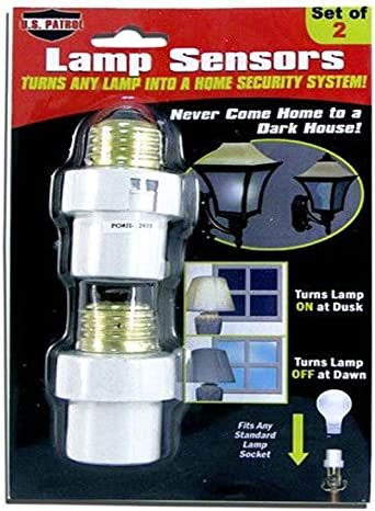 2 Automatic Lamp Sensors Dusk to Dawn Security Light Switch System INCANDESCENT