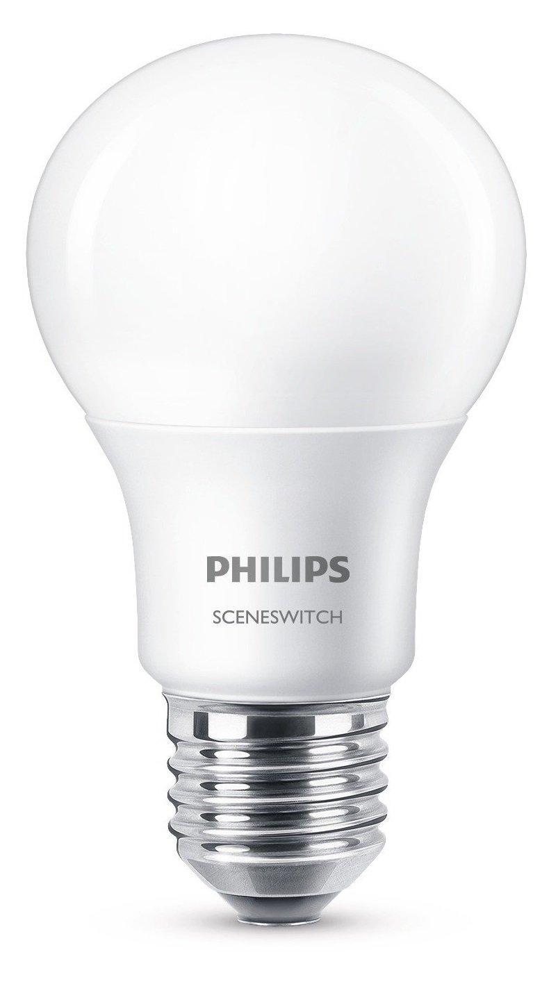 Philips 3-in-1 LED Lampe SceneSwitch ersetzt 60W, EEK A+, E27 (Matt ...