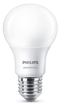 Philips 3 In 1 Led Lampe Sceneswitch Ersetzt 60w Eek A E27 Matt