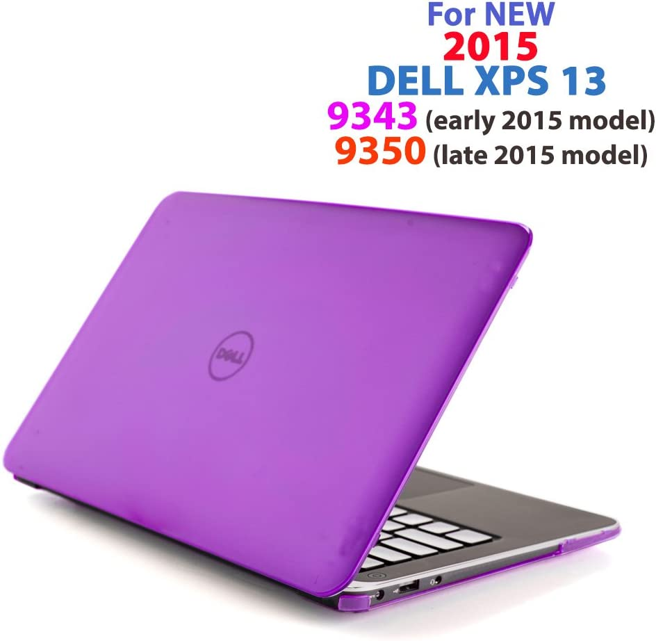 "Purple iPearl mCover Hard Shell Case for 13.3"" Dell XPS 13 9343/9350 / 9360 Models (not Fitting Older L321X / L322X / 9333 and Newer 9365 2-in-1 Models) Ultrabook Laptop - Purple"