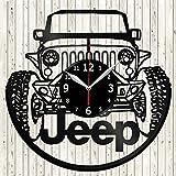 Vinyl Love Jeep - Reloj de Pared de Vinilo, Hecho a Mano, diseño único, Regalo Original