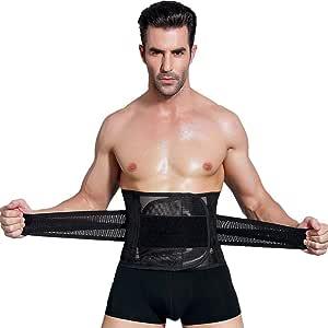 حزام تنحيف الخصر لشد الجسم ونحته وحرق الدهون لاستعادة اللياقة وفقدان الوزن، قابل للتعديل لدعم اسفل الظهر للجنسين